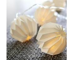"""PAPER FLOWER-Guirlande Lumineuse Origami LED pile L2,75m Blanc Xmas Living Glass"""