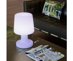 CARMEN-Lampe baladeuse d'extérieur RGB rechargeable H45cm Blanc New Garden
