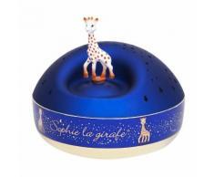 SOPHIE LA GIRAFE-Veilleuse Boite musique avec projections lumineuse 12cm Bleu Trousselier