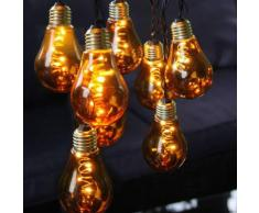 GLOW-Guirlande ampoules 10 LED L5m ambre Xmas Living Glass
