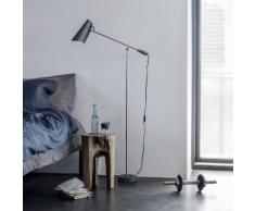 BIRDY-Lampe de lecture H133cm gris et nickel Northern - designé par Birger Dahl