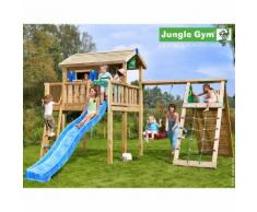 Maisonnette en bois sur pilotis Jungle Gym SAMAKI - 13 enfants