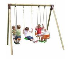 Portique en bois Trigano 2,50 m. 5 enfants