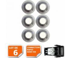 LOT DE 6 SPOT LED ENCASTRABLE ORIENTABLE 5W eq. 50W, BLANC NEUTRE ref.64854000