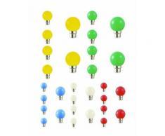 Lot de 30 ampoules led B22 pour guirlande lumineuse (5 couleurs différentes) - Couleur - RGB