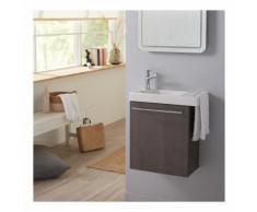 Pack lave mains Sandy grey avec lave mains porte serviette et robinetterie eau froide Bois sandy