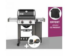 Barbecue gaz Weber Genesis II E-210 GBS Noir + Thermomètre IGrill 3 + Housse OFFERTE