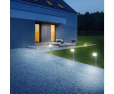 Steinel Borne d'éclairage à capteur GL 80 LED IHF CUBO Argenté 055486