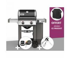 Barbecue gaz Weber Genesis II E-210 GBS Noir + Thermomètre IGrill 3 + Kit Ustensile + Housse OFFERTE