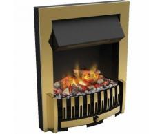 Foyer de cheminée électrique encastrable optimyst effet fumée Danville Bronze