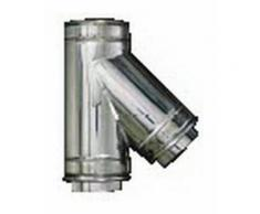 cheminée isolé INOX dn 300/350 tee raccord 135 °