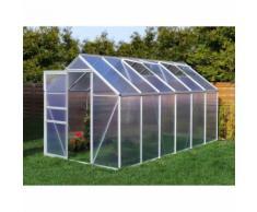 Serre de jardin 7.03 m² en aluminium - 190x370 cm