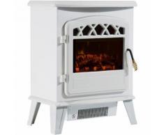Cheminée électrique radiateur imitation flamme avec luminosité et réglable 900 W / 1800 W porte