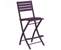 Chaise haute pliante de jardin Marius - 46 x H. 110 cm - Aubergine