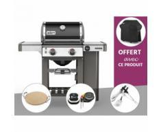 Barbecue gaz Weber Genesis II E-210 GBS Noir + Pierre à Pizza + Thermomètre IGrill 3 + Kit