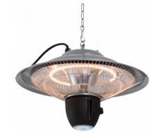 Chauffage radiant suspendu chauffage infrarouge à quartz 1500 W avec grille de protection,