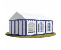 INTENT24 Tente Barnum de Réception 4x6 m PREMIUM Bâches Amovibles PVC 500 g/m² bleu-blanc + Cadre