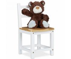 Chaise enfant cadre blanc en bambou RUSTICO chaise fleurs plantes chaise appoint HxlxP: 50 x 28,5