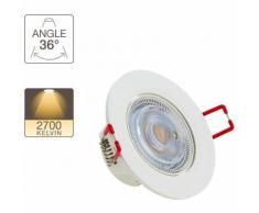 Spot LED intégré - 345 lumens - blanc chaud