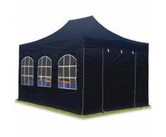 Tente pliante / pliable PREMIUM 3x4,5 m avec fenêtres en Polyester de qualité INTENT24 noir