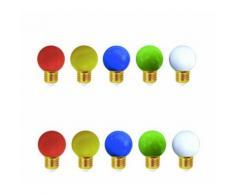 Lot de 10 ampoules led E27 pour guirlande lumineuse - Couleur - RGB