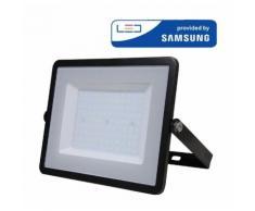 Projecteur LED Pro Noir 100W Samsung Chip Vt-100 - Blanc Chaud - 3000k - 100 Deg V-TAC