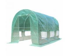 Serre jardin Tunnel 350*200*200cm PE Serre à tomates en Acier Antirouille Anti-UV Imperméable