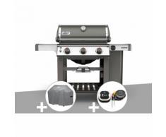 Barbecue gaz Weber Genesis II E-310 GBS Gris + Housse + Thermomètre IGrill 3