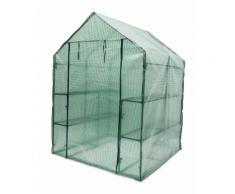 Serre de jardin métal 140 x 190 x 140 cm 2 m2 jardinage plante