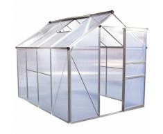 "Serre jardin polycarbonate ""Hortensia"" transparent 4,8m²"