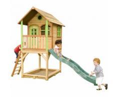 Sarah Playhouse: Maisonnette pour enfants, fenêtres intégrées et bois très résistant
