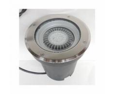Encastré de sol LED 22.5W Ø 220mm inox 3000K 1820lm 40° lampe AR111 et alim 230V IK10 IP67 OLODUM