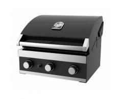 Promo Grandhall - Barbecue encastrable gaz 12.6 kW surface cuisson 60x44cm - Premium GT3