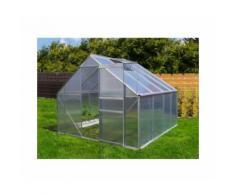 Serre de jardin 6.25 m² en aluminium avec porte et une fenêtre d'aération - 250x250 cm - Plantiflex