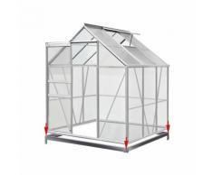 Serre de jardin 5,85m³ - 1 fenêtre et fondation en acier