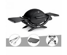 Barbecue gaz Weber Q 1200 + Kit Ustensile + Plancha + Chariot