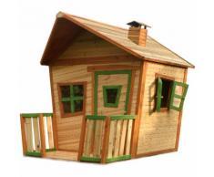Jesse Playhouse: Maisonnette pour enfants, fenêtres intégrées et bois très résistant