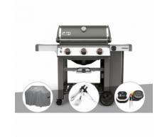 Barbecue gaz Weber Genesis II E-310 GBS Gris + Housse + Kit Ustensile + Thermomètre IGrill 3