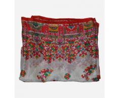 Foulard Parasol imprimé soie Rouge Derhy