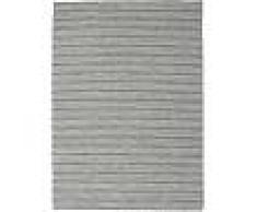 Noué à la main. Origine: India Tapis Kilim Long Stitch - Long Stitch Noir / Gris 210x290 Tapis Moderne