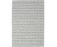 Noué à la main. Origine: India Tapis Kilim Long Stitch - Foncé Gris 160x230 Tapis Moderne
