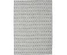 Noué à la main. Origine: India Tapis Kilim Long Stitch - Foncé Gris 140x200 Tapis Moderne