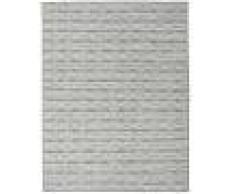Noué à la main. Origine: India Tapis Kilim Long Stitch - Foncé Gris 190x240 Tapis Moderne