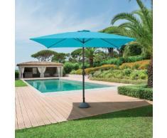 Parasol droit rectangulaire inclinable Fidji Lagon Jardin