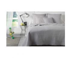 Couvre lit et housse de coussin : 240x260 cm + 2 housses de coussin 60x60 cm / Gris