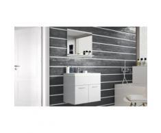 Set de salle de bain Chelsea : Blanc mat - Blanc laqué