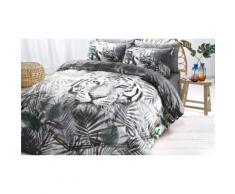 Parures de lit animales en polycoton : Double / White Tiger