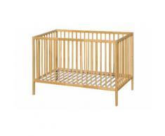Lit pour bébé en bois : nature