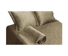 Couvre lit satin : Taupe