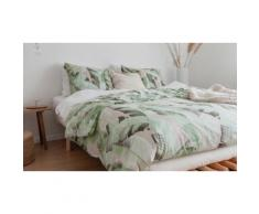 Parure de lit en coton 144 fils : Feuilles de palmier / 140x220cm